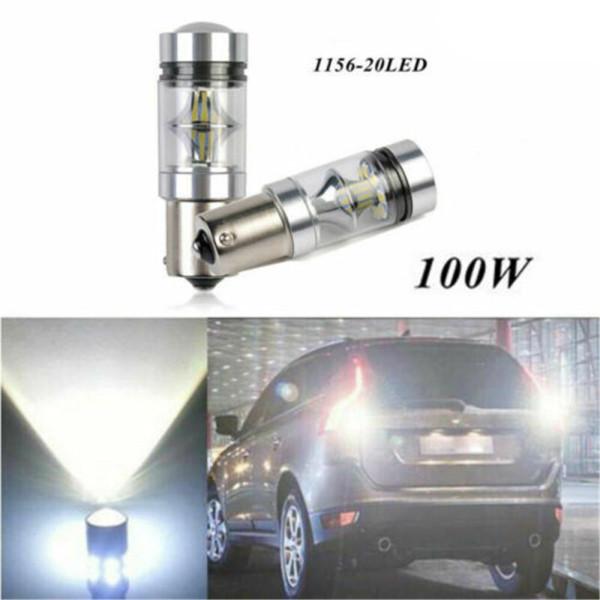 JIAOJI8 Đèn LED Dự Phòng Màu Trắng 12V 100W P21W 1156 Bóng Đèn LED Xe Ô Tô, Đèn Lùi Xe Ô Tô 20 LED