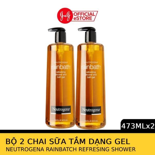 Bộ 2 chai Sữa tắm dạng gel Neutrogena Rainbath Original refreshing shower and bath gel 473ml/chai - 540018230