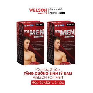 Combo 2 Hộp Viên Uống Cải Thiện Sinh Lý Nam Welson For Men 2x60 viên thumbnail