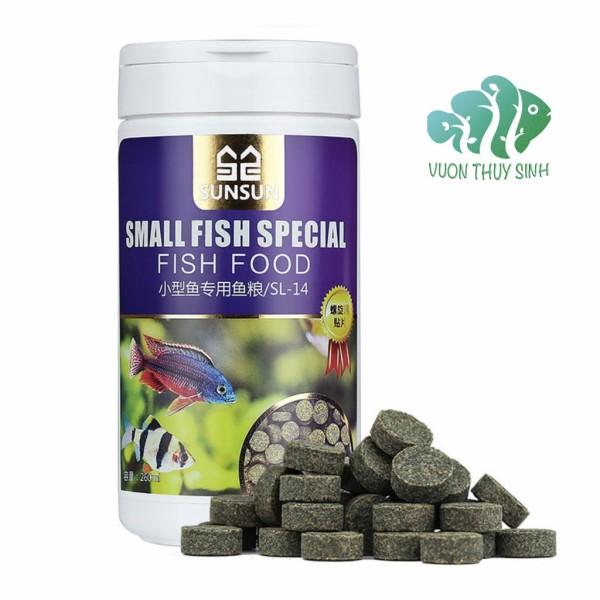 Thức ăn dán thành bể SunSun hộp 150ml (Small fish special)
