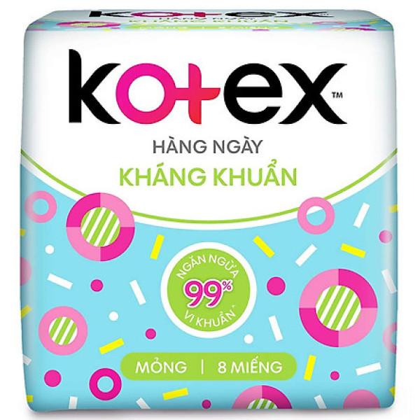 Băng vệ sinh Kotex hàng ngày gói 8 miếng