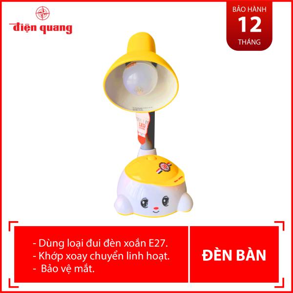 Đèn bàn Điện Quang ĐQ DKL04 B (kiểu trẻ em, vàng trắng, có bóng)