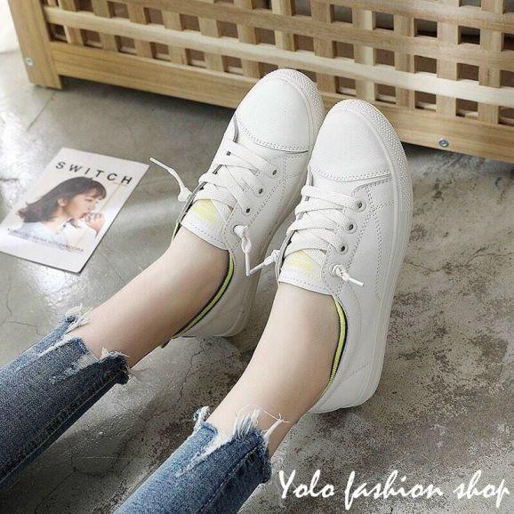 Giày lười thể thao giả dây cổ phối màu cực xinh hàng chuẩn loại 1 hottrend 2020 -TT12 giá rẻ