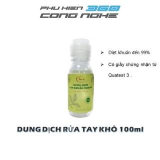 Chai dung dịch rửa tay khô dung tích 100ml, tỉ lệ diệt khuẩn đến 99%, có giấy chứng nhận từ Quatest 3 - Dạng nắp bật thumbnail