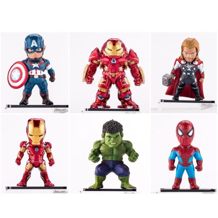 Bộ Đồ Chơi Biệt Đội Siêu Anh Hùng AVENGERS [6 thanh niên] - Mô hình Biệt đội siêu anh hùng The Avengers - Mô hình siêu anh hùng Marvel Avengers 6 Nhân Vật - Iron man, Thor, Captain America, Hulk, Người nhện, Shiper man