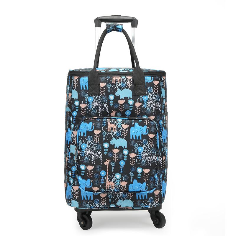 9d2e1b732e51 Portable Universal Wheel Shopping Cart Foldable Push Light Trolley Bag  Handbag Old Man Shopping Cart Household Luggage Trolley