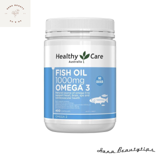 [ Hàng Chính Hãng Úc ] Viên uống dầu cá Healthy care fish oil 1000mg omega 3 400 viên thumbnail