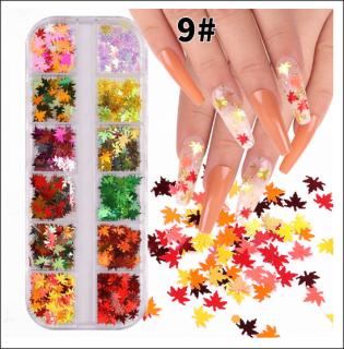 Sét Nhũ lá phong 12 hôp chăm sóc trang trí móng làm nail theo phong cách hàn quốc nailart thumbnail