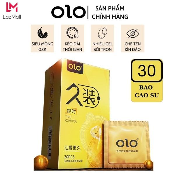 Bao cao su OLO 001 Vàng, siêu mỏng, kéo dài thời gian, hộp lớn 30 chiếc - OZO Store