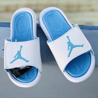 Dép quai ngang nam nữ bóng rổ Jordan hydro JD6 màu trắng xanh có tem mac đầy đủ - Tặng hộp thumbnail