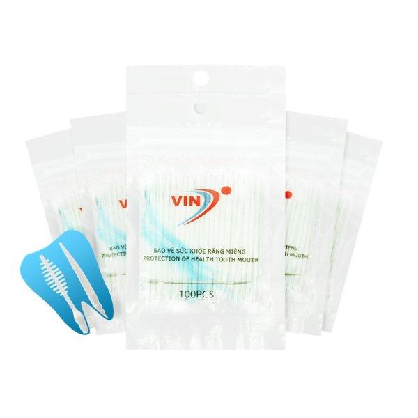 Combo 6 túi x túi 100 Tăm nha khoa chất lượng cao (VINON-M01) xuất khẩu, QCVN:12-1:2011/BYT: ISO: 9001-2015 nhập khẩu