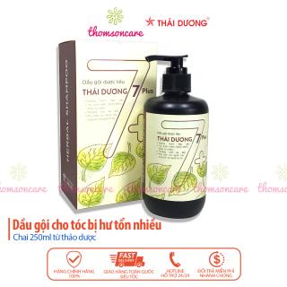 Dầu gội dược liệu Thái Dương 7 Plus - Hỗ trợ phục hồi tóc hư tổn giúp tóc mọc dày thumbnail