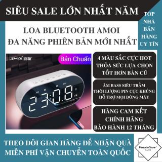 Loa Bluetooth Không Dây AMOI Đa Năng Phiên Bản Nâng Cấp Tích Hợp Đồng Hồ, Nhiệt Kế Đo Nhiệt Độ Phòng, Âm Bass Siêu Trầm, Hỗ Trợ Micro HD, Khe Cắm Thẻ Nhớ - Loa Bluetooth Mini, Loa Cầm Tay thumbnail