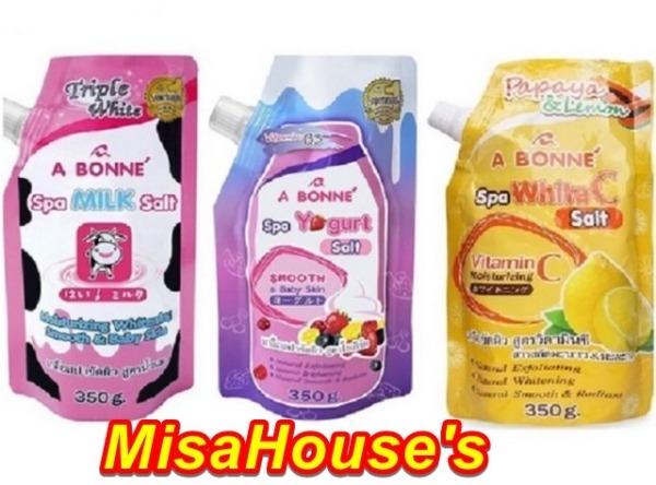 Bộ 3 Muối tắm sữa bò tẩy tế bào chết A Bonne Spa  Thái Lan 350gr ( 3 hương) giá rẻ