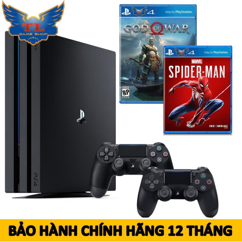 [TRẢ GÓP 0%] Máy Chơi Game Playstation PS4 Pro 1TB Model 7218B 2Tay Cầm + Kèm Đĩa Game God Of War & Spiderman - Hãng Phân Phối Chính Thức