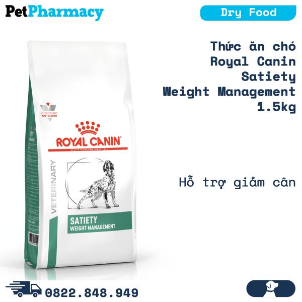 Thức ăn chó Royal Canin Satiety Weight Management 1.5kg - Hỗ trợ giảm cân Petpharmacy