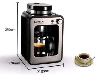 Máy pha cà phê Gotech - Tự động xay và pha cà phê hạt, cà phê bột -Máy pha cafe tự động quy trình khép kín giữ nguyên hương vị cafe thumbnail