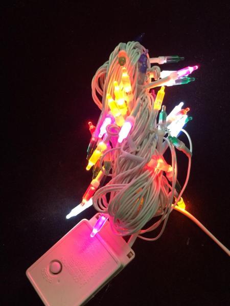 Combo 10 Dây đèn nháy nhiều màu dài 8m
