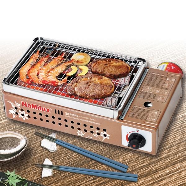 Bếp Nướng Gas Hồng Ngoại NaMilux NH-24N, Sử dụng lon gas Mini - Bếp nướng không khói