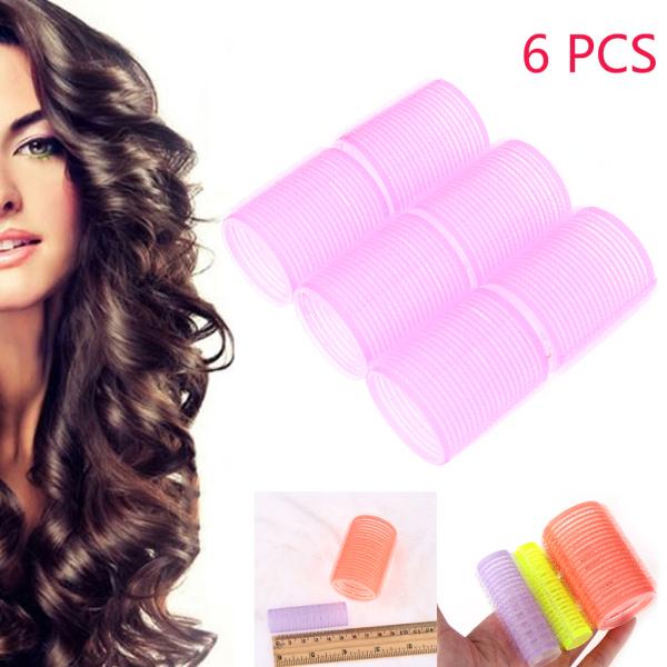 BGTDWU 6 Pcs Random Color Nhiều kích thước Quà tặng Dụng cụ tạo kiểu tóc Cao thủ Máy lăn tóc Tự tay cầm Salon Uốn tóc