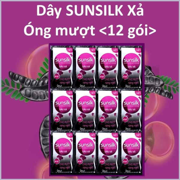 Dầu xả Sunsilk Óng mượt rạng ngời (Đen) Dây 12 gói giá rẻ