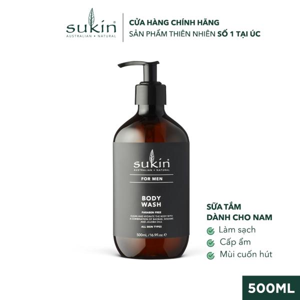 Sữa Tắm Dành Cho Nam Sukin For Men Body Wash 500ml tốt nhất