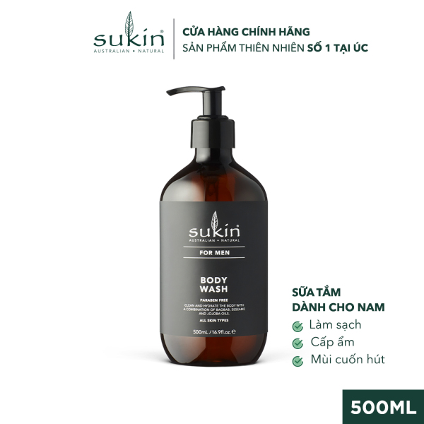 Sữa Tắm Dành Cho Nam Sukin For Men Body Wash 500ml cao cấp