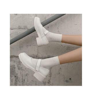 Hepburn Giày Mary Jane Giày Nhật Bản Jk Giày Giày Da Nhỏ 2020 Đầu Vuông Cổ Điển Giày Nữ Đế Mỏng Xia Hundred