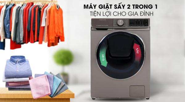 Máy giặt sấy Samsung AddWash Inverter 10.5 kg WD10N64FR2X/SV chính hãng
