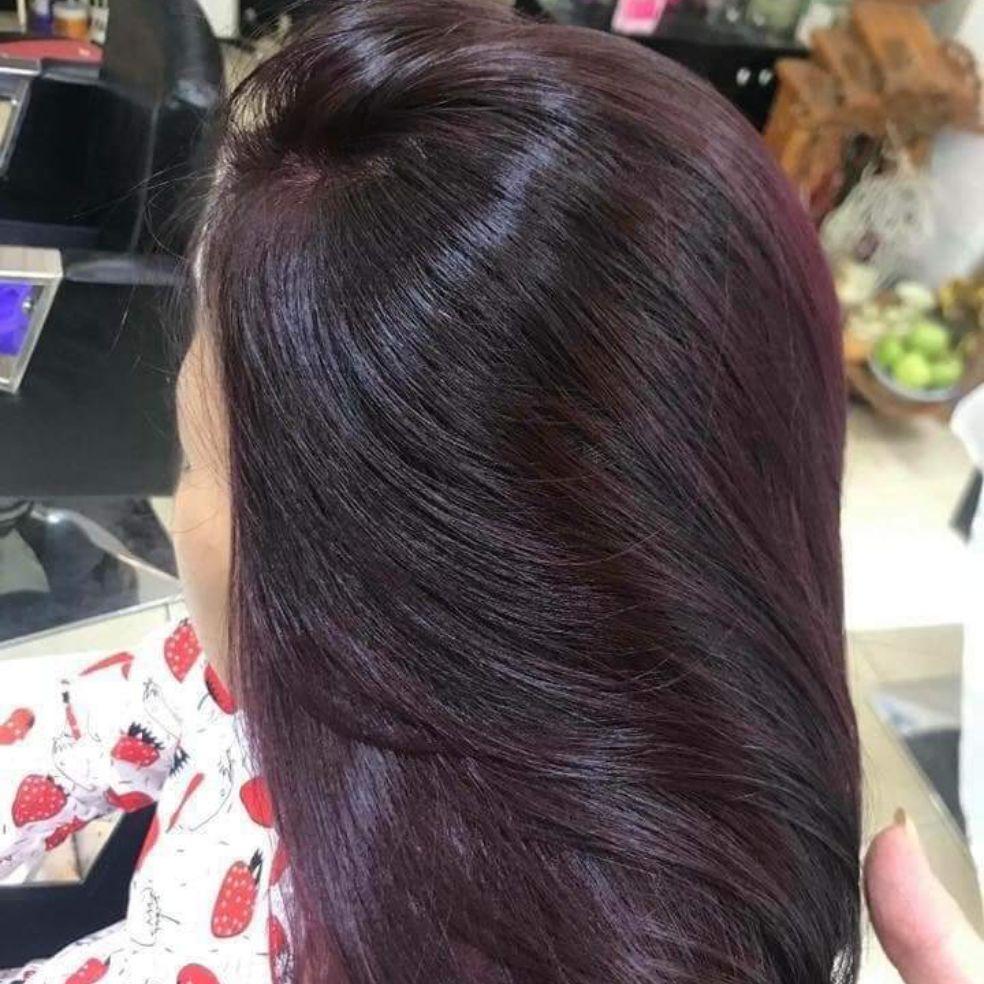 Thuốc nhuộm tóc màu Tím Trầm + kèm oxi nhập khẩu