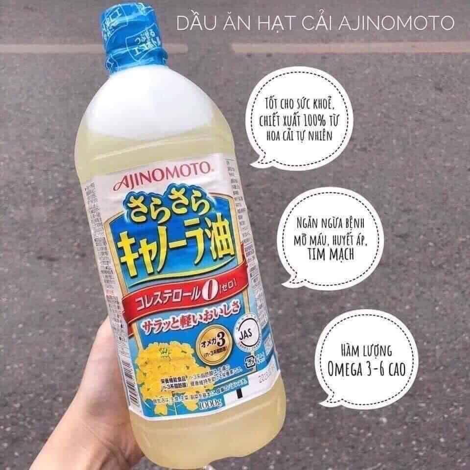 Dầu Ăn Hạt Cải Ajinomoto Nội Địa Nhật Bản - 1L