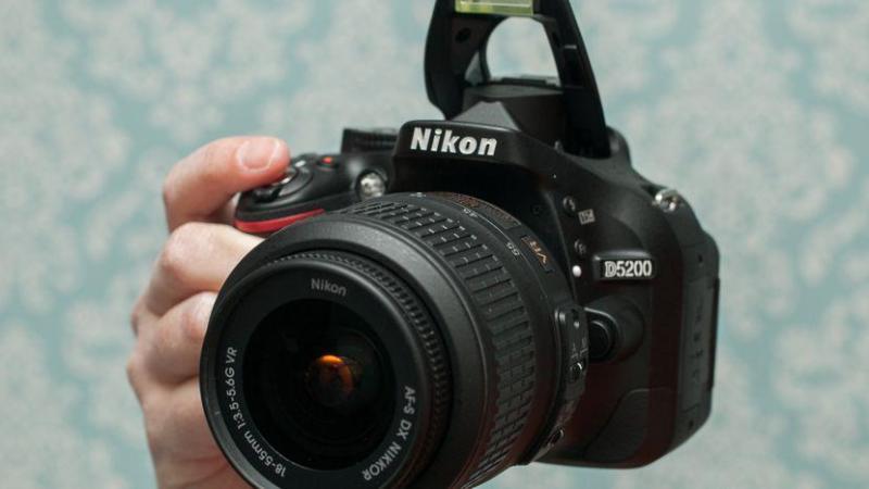 Máy Ảnh Nikon D5200 + Lens 18-55 Vr 96%