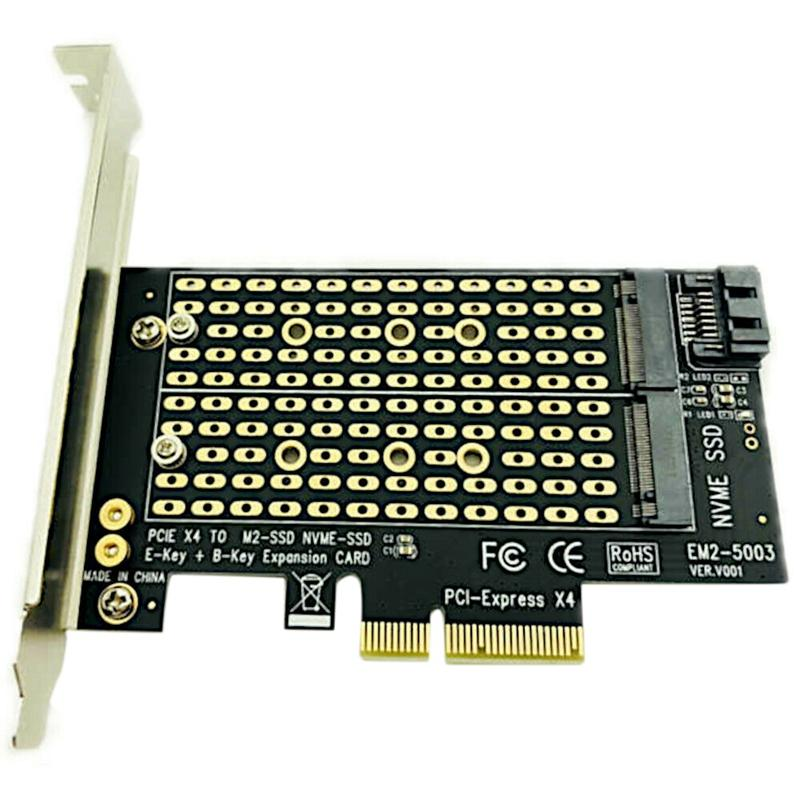Giá Pcie To M2/M.2 Adapter M.2 Ngff To Desktop Pcie X4 X8 X16 Nvme Sata Dual Ssd Pci Express Adapter Card