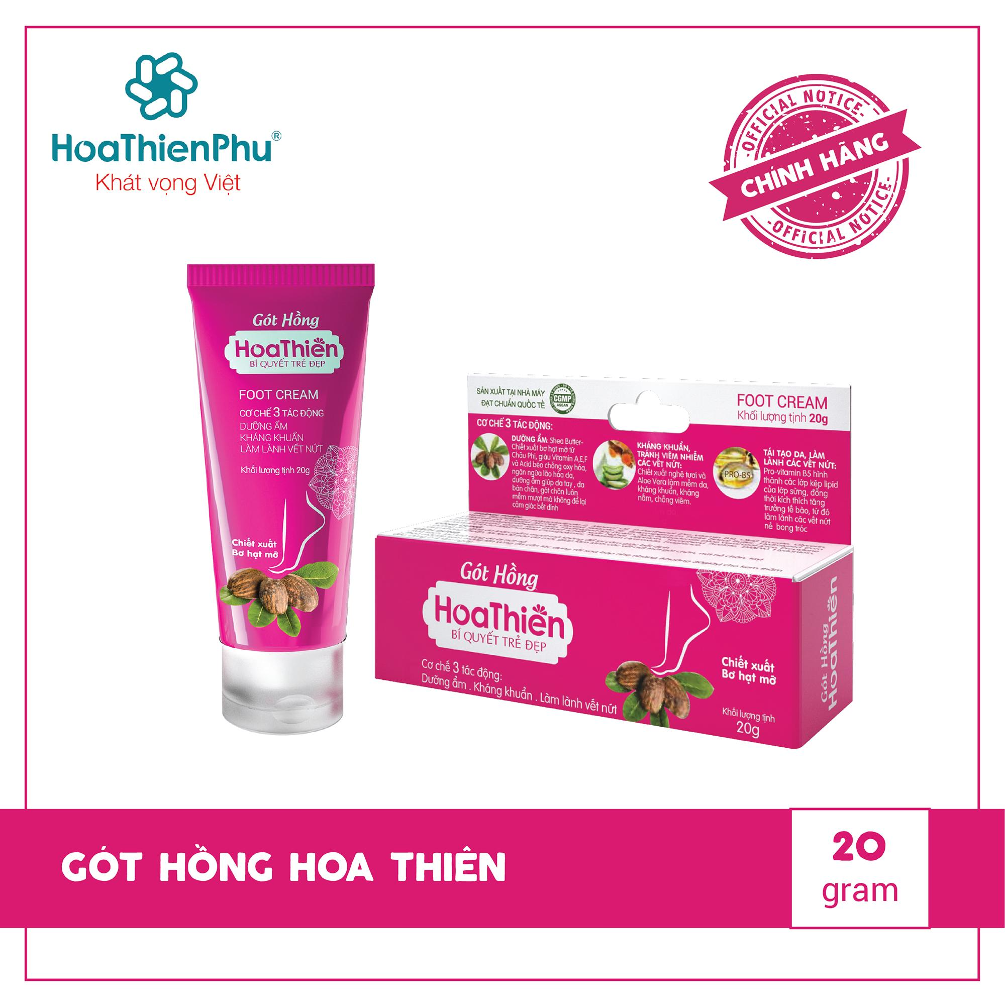 Kem gót hồng Hoa Thiên giúp đôi bàn tay, chân mịn màng, mềm mượt nhập khẩu