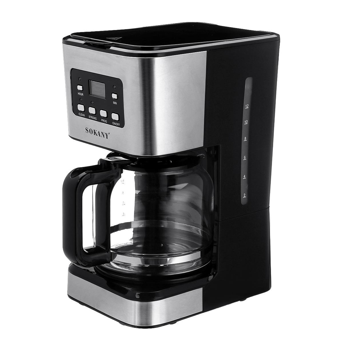 Coffee Maker 12 Cups Machine Semi-Automatic Drip Espresso Cappuccino Making 220V