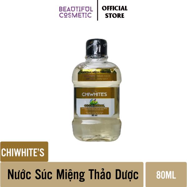 Nước súc miệng Chiwhites  80ml - Thảo Dược - Làm sạch mảng bám - Đem lại hơi thở thơm mát giá rẻ