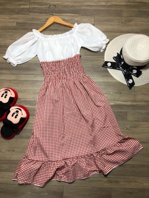 Váy Caro Phối Yếm (may liền) đủ màu, size dưới 55kg, thích hợp đi chơi, đi tiệc