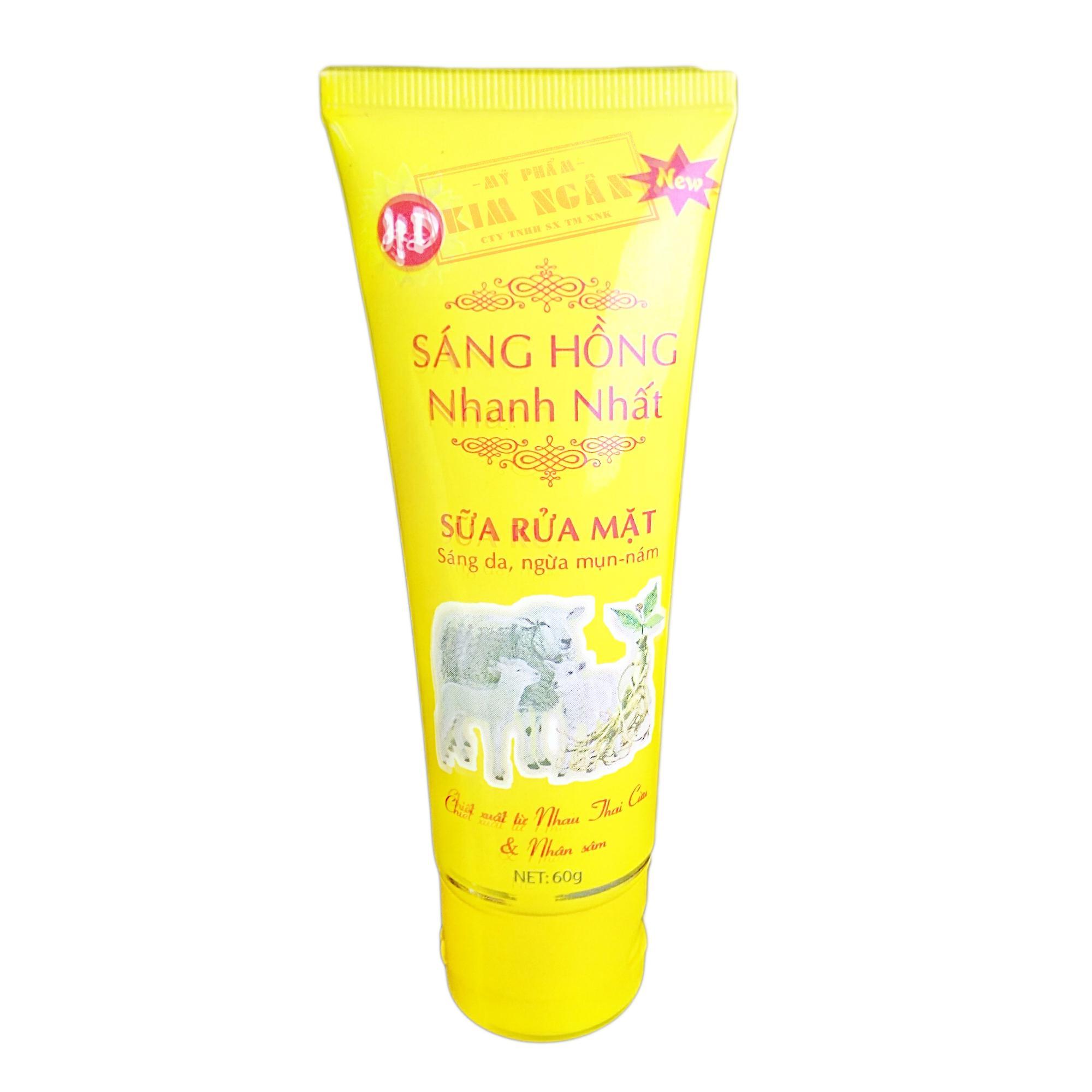 Sữa Rửa Mặt Sáng Hồng Trắng Da, Ngừa Mụn (60g)