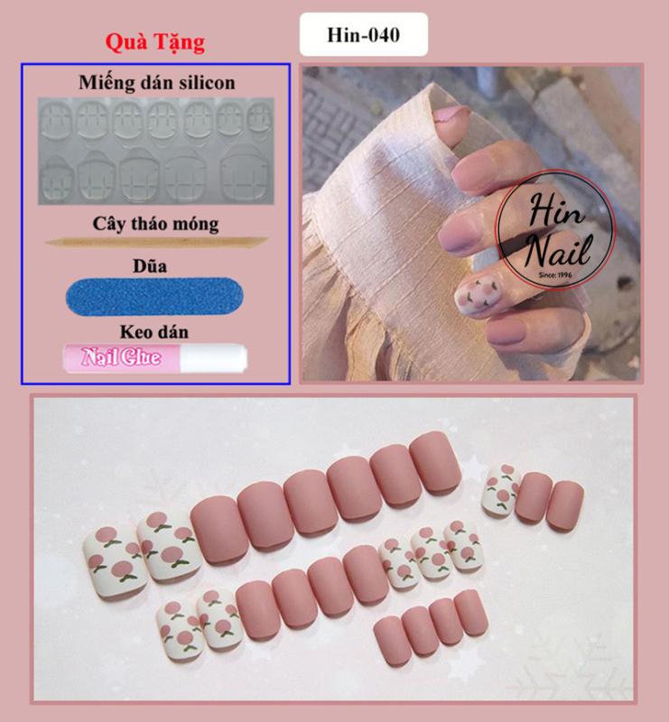[TẶNG 4 phụ kiện] móng tay giả có keo sẵn dán móng cao cấp chống nước - mong tay giả giá rẻ chất lượng cao giá rẻ