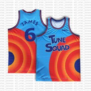 2021 Movie Space Jam Tune Squad Basketball Jersey Blue Lebron 6 James 23 MJ 1 Bugs 22 Bill Murray 10 Lola 2 D.DUCK Taz 1 3 Tweety 55 thumbnail