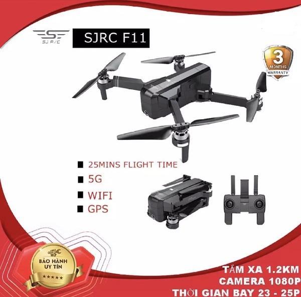 Flycam SJRC F11. Động cơ không chổi than. Camera 1080p. Bay 25 phút. Khoảng cách bay 1200m FPV 500m ( zen k1 bugs 4w x11)