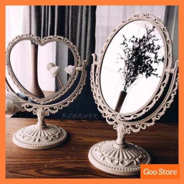 Gương để bàn trang điểm - Gương trang điểm mini - Gương soi trang điểm cute giá rẻ