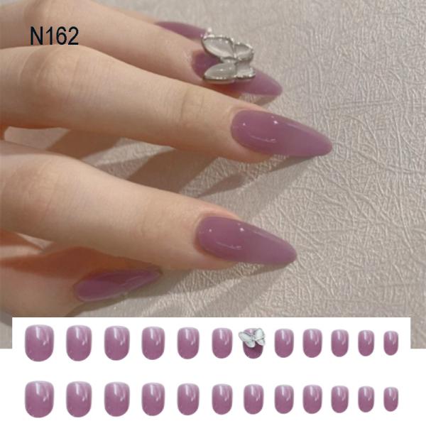 [Tặng keo+dũa] Bộ 24 móng tay giả đính đá dài đẹp sang chảnh thiết kế cao cấp N162