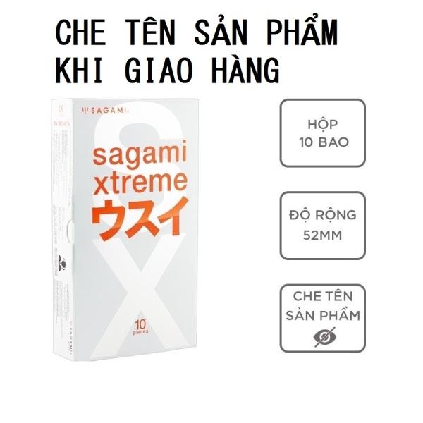 Bao cao su bcs Sagami Superthin siêu mỏng nhiều gel bôi trơn không mùi hộp 10 bao - thegioisoi cao cấp