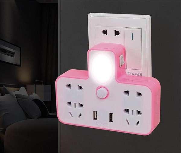 Ổ Cắm Điện - Ổ Điện Đa Năng Loại Xịn Có Cổng Gắn USB Sạc Điện Thoại Kiêm Đèn Ngủ Cực Đẹp