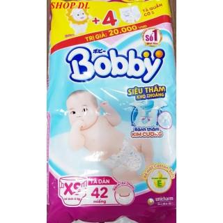 Tã Dán Bobby Sơ Sinh Siêu Thấm XS42 (42 Miếng) + 4 Miếng Tã Quần S thumbnail