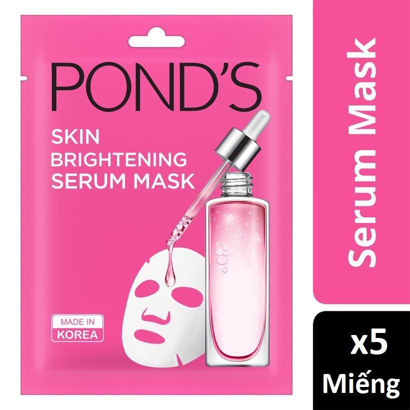 Comb 05 Miếng mặt nạ Ponds tinh chất sáng da Skin Brightening Serum Mask 21ml nhập khẩu