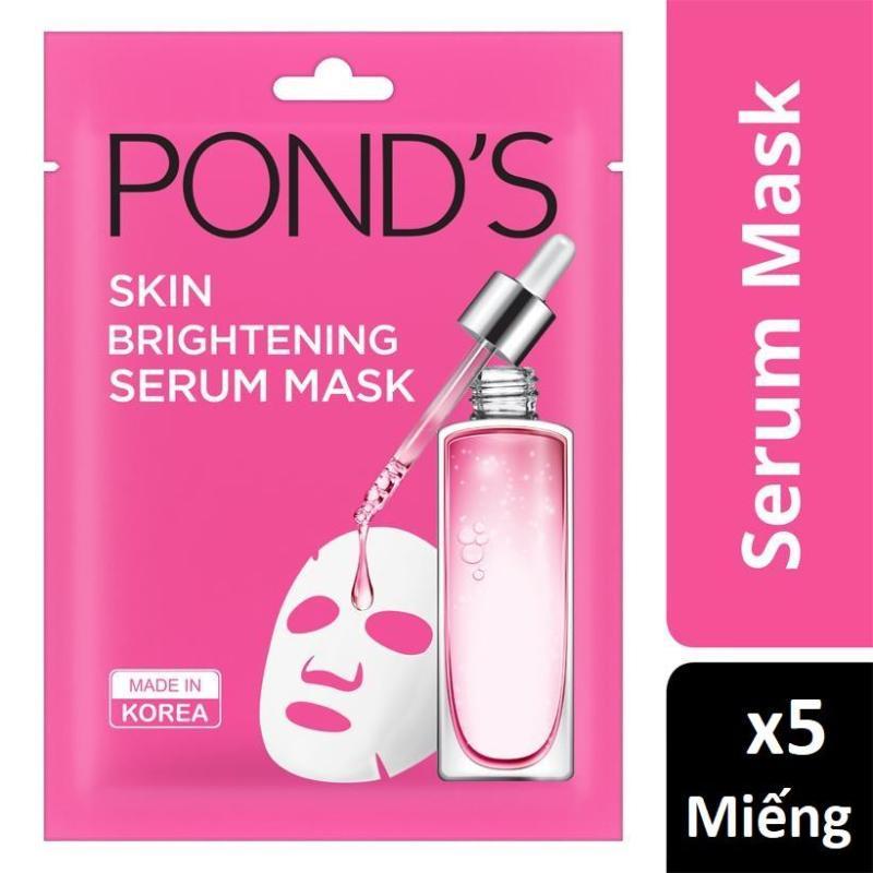 Comb 05 Miếng mặt nạ Ponds tinh chất sáng da Skin Brightening Serum Mask 21ml