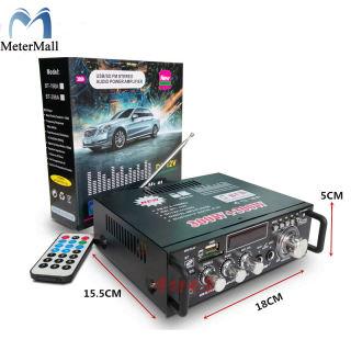 Bộ khuếch đại LCD 600W Âm thanh nổi HiFi Bluetooth FM 2CH Ampe Trang chủ USB SD MP3 Player