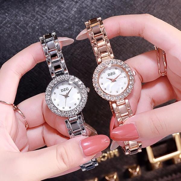 Đồng hồ thời trang nữ DZG đính cườm cao cấp MS031
